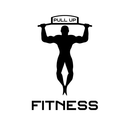 pull: fitness pull up bands vector illustration