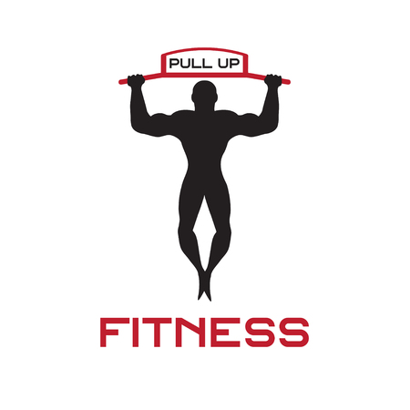 pull up: fitness pull up bands vector illustration