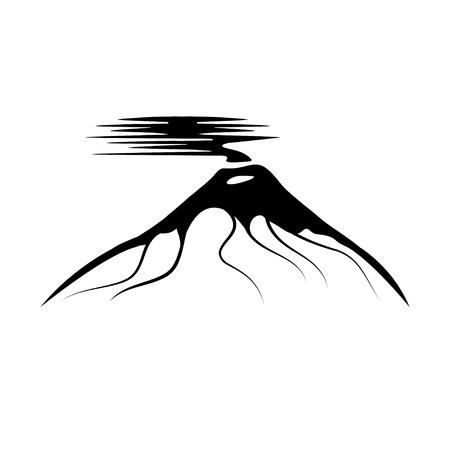 ash cloud: vector abstract illustration of volcano Cotopaxi in Ecuador Illustration