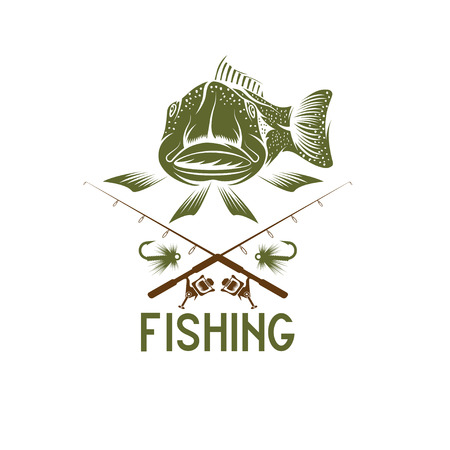 minnow: vintage funny fishing vector design template