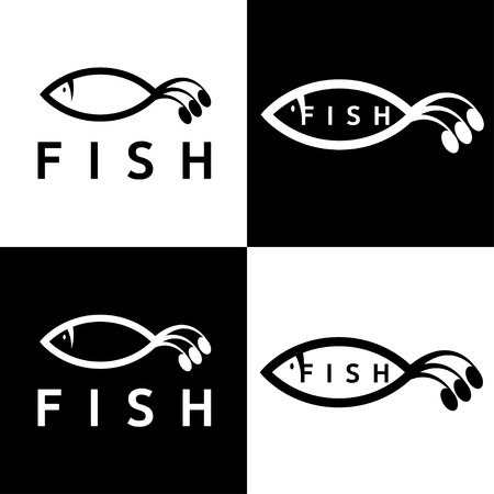 fishy: abstract fish vector design template