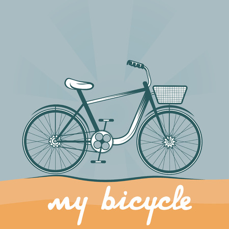 spoked: retro vector illustration of  bicycle