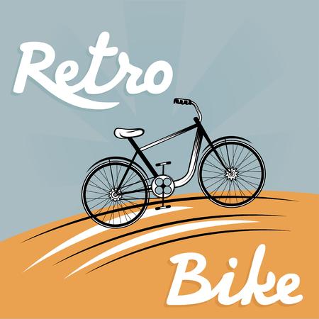 velocipede: retro vector illustration of  bicycle
