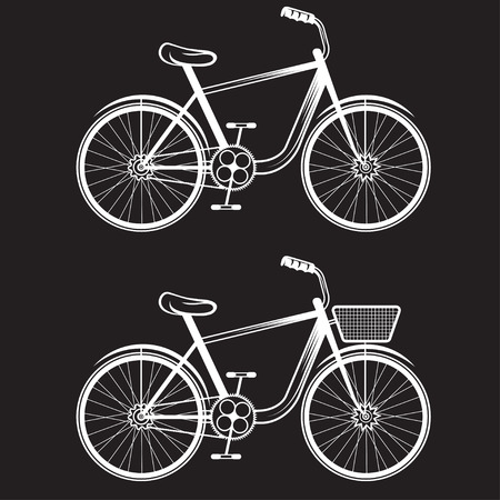 spoked: set of vector bicycles Illustration