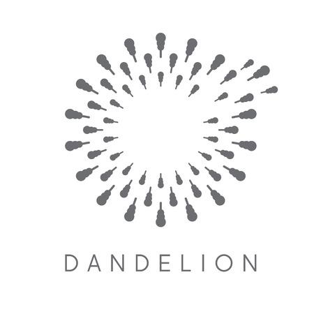 fade: Illustration of concept dandelion. Vector logo Illustration