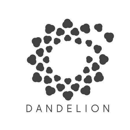 fade: Illustration of concept cloud dandelion. Vector logo
