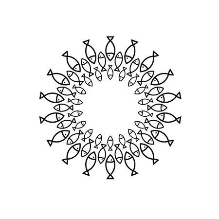 allied: fish circle design template Illustration