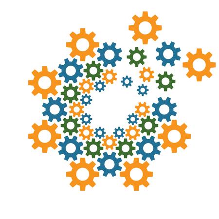 circle design: circle gear design template