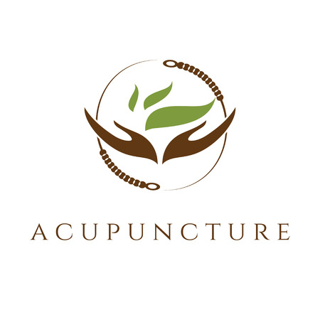 Vector template of acupunture theme Stock Illustratie