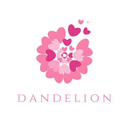 fade: Illustration of concept dandelion. Vector Illustration