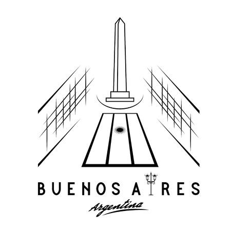 aires: Vector illustration of national historic monument The Obelisk of Buenos Aires