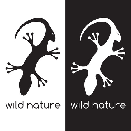 antelope: lizard and head of antelope negative space concept