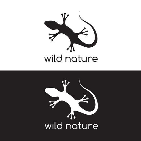 cling: lizard vector design template
