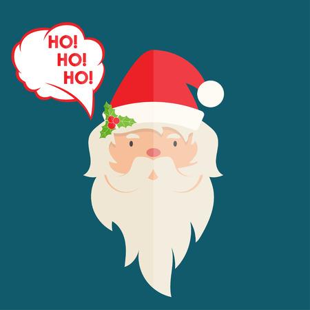 christmas accessories: Flat design of Santa Claus with christmas accessories. Vector illustration