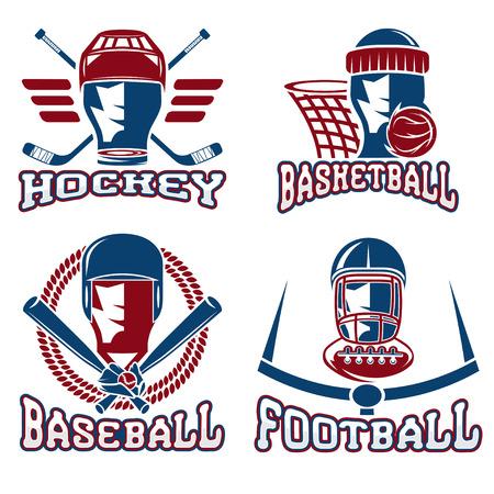 major league: vintage sport vector labels set