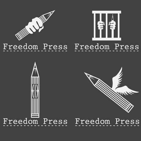 air awareness: freedom press concept vector design template
