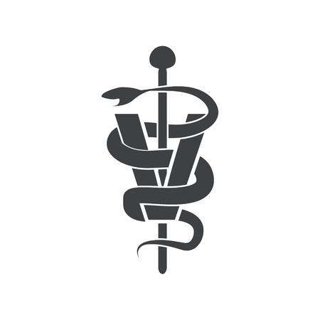 caduceus veterinary symbol: veterinary symbol vector design template