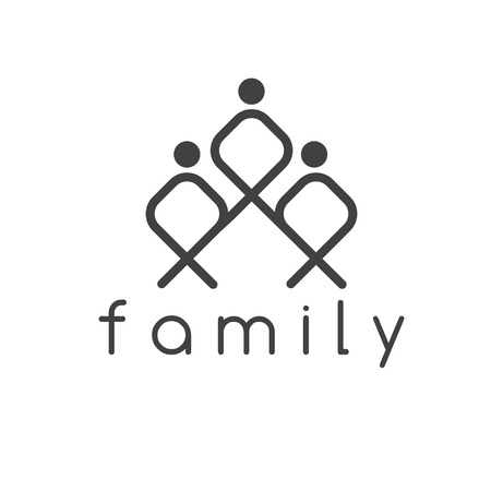 happy family: happy family vector design template Illustration
