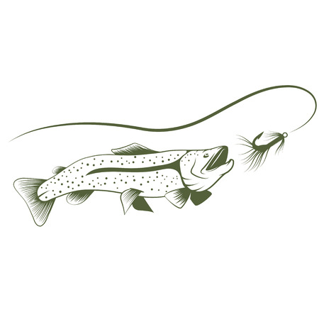 lure: trout and lure design template