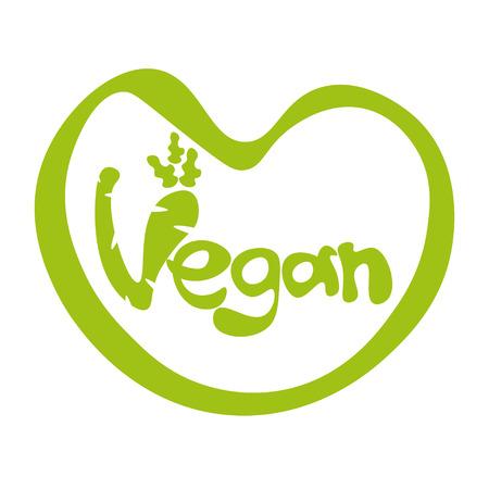 eco slogan: Illustration of concept template lettering Vegan.Vector