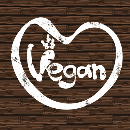 eco slogan: Illustration of concept template lettering Vegan.Vector