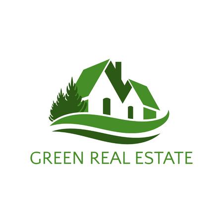 Icona casa per affari immobiliari. Illustrazione vettoriale