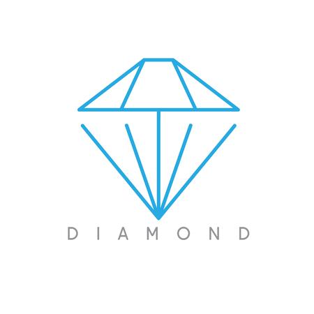 dimond: abstract icon vector design template of dimond