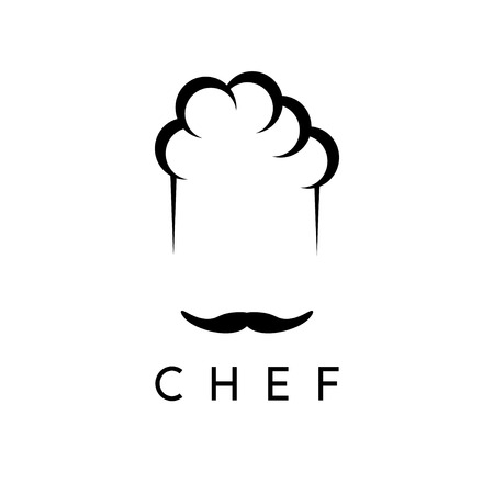 abstract icon vector design template of chef Illustration
