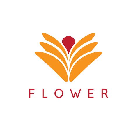 modèle de fleur de conception abstraite vecteur icône Vecteurs