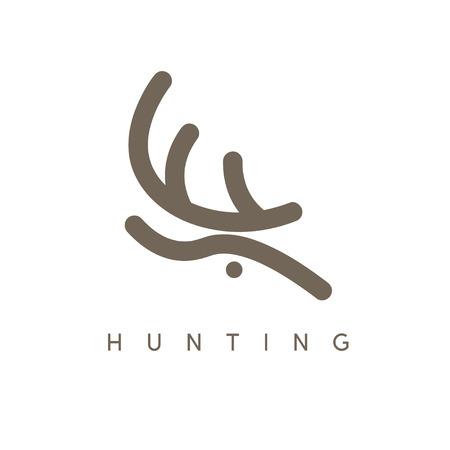 horny: abstract vector design template of deer head