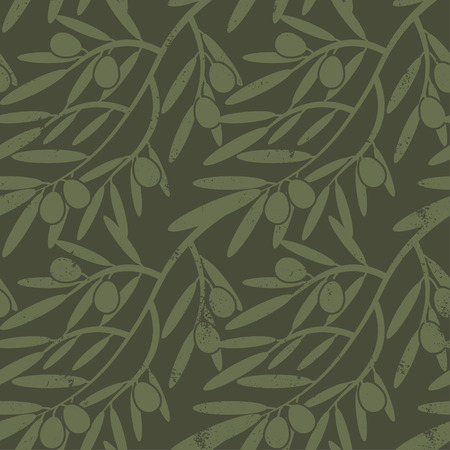 agriculture wallpaper: Seamless pattern with olive branches. Retro decorative texture background for textile,paper,labels and etc. Vector
