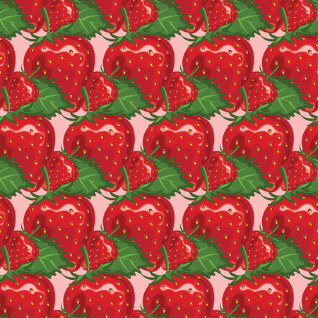 juicy: Seamless pattern of juicy strawberry. Vector illustration