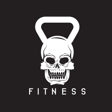 crossbar: skull in the form of kettlebell fitness concept