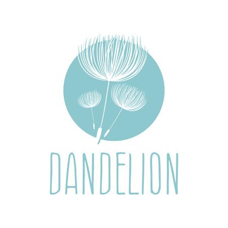 Abstract fluffy dandelion flower . Vector illustration Illustration