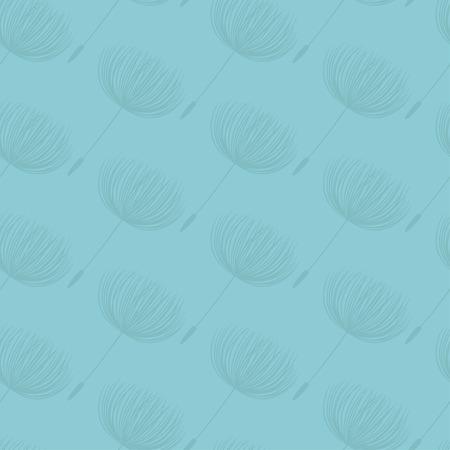 dandelion flower: Abstract fluffy dandelion flower seamless pattern. Vector illustration Illustration