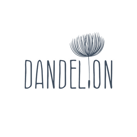 Abstract fluffy dandelion flower . Vector illustration Vektorové ilustrace