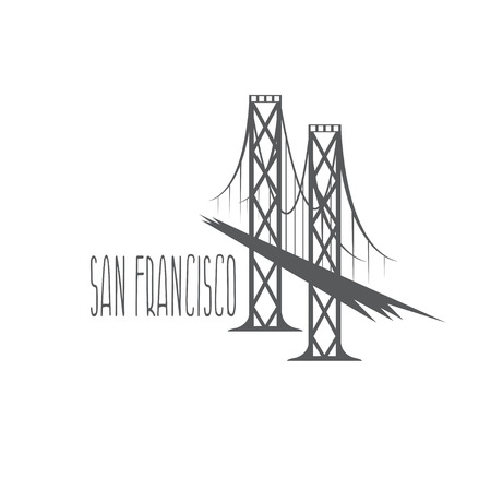 san francisco bay: San Francisco - Oakland Bay Bridge vector illustration Illustration