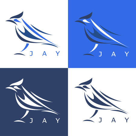 jay: abstract stellers jay set vector design template Illustration