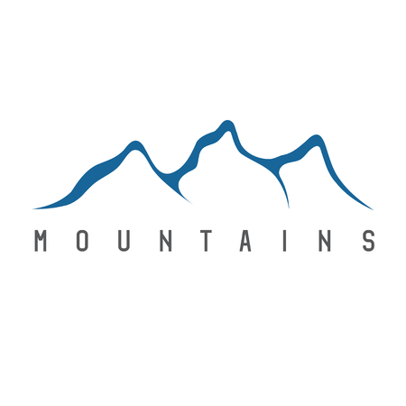 winter range: simple vector illustration of the abstract mountains