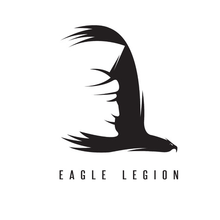 negative space vector concept of spartan head in wing of eagle Vektorové ilustrace