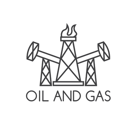 oil and gas industry: oil and gas industry vector design template Illustration