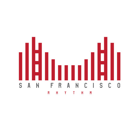 san francisco bay: Golden Gate of San Francisco rhythm style vector illustration