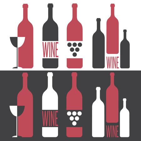wine  shabby: set of vector illustrations on wine theme Illustration
