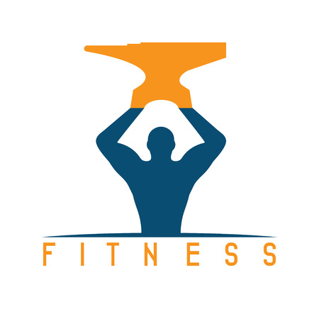 incus: man of fitness silhouette character with anvil