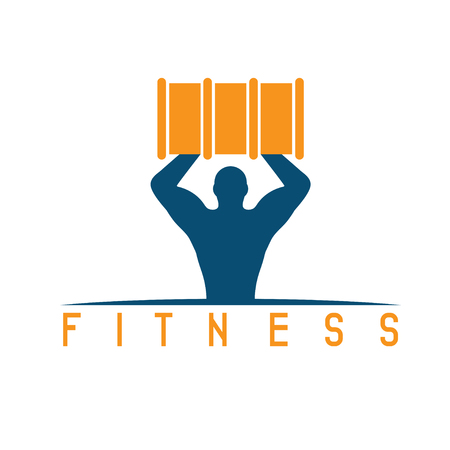 incus: man of fitness silhouette character with barrel