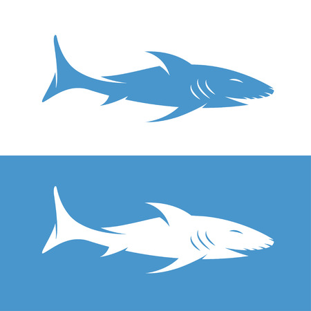 whaling: vector design template of  the abstract shark Illustration