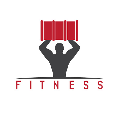 defined: man of fitness silhouette character with barrel