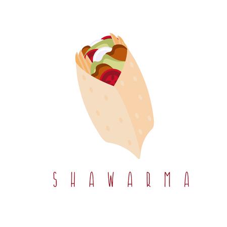 kabob: shawarma gyros doner kabob isolated vector design template