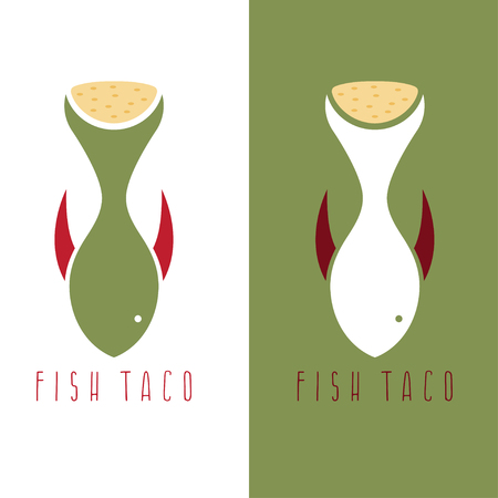 Taco Fish Mexican Food Vector Design Template Royalty Free Cliparts ...