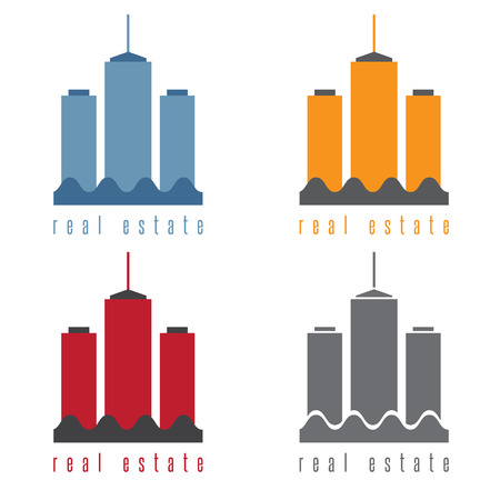 commercial real estate: vector illustration set of commercial real estate Illustration